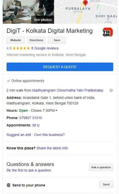 DigiT - Kolkata Digital Marketing - Tejom Digital - Knowledge Graph